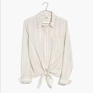 Madewell Tops - NWT Madewell Tie Front Shirt in Stripe